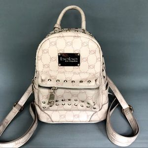 BEBE Jett monogram backpack in blush
